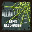 Halloween background with spider's web — Stok Vektör