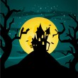 Halloween castle illustration — Stock Vector