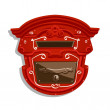 Royalty-Free Stock ベクターイメージ: Red Postbox isolated