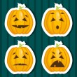 Halloween pumpkin stickers — Stok Vektör