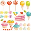 Stock Vector: Set of sweets icons