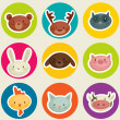 Cartoon animal head - Stock Vector