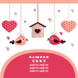 Royalty-Free Stock Vector Image: Valentine\'s day card with place for your text,