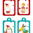 Christmas holiday tags — Stock Vector