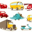Stockvektor : Cartoon vehicles