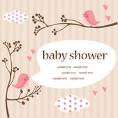 Baby girl shower — Stock Vector