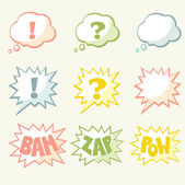 Set of vector speech bubble — Stock Vector