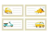 回学校用车的贴纸 — 图库矢量图片