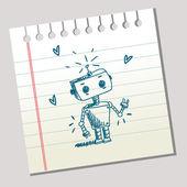 Scribble robot — Stock Vector