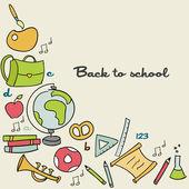回学校背景 — 图库矢量图片