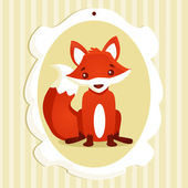 Background with fox — Stock Vector