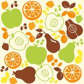 Fruit Pattern Background — Stock Vector