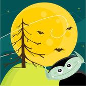 Cute Halloween background — Stock Vector