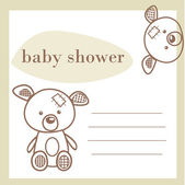 Baby shower announcement card — Cтоковый вектор