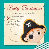 Pirate party invitation — Stock Vector