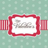 Retro card for Valentine's Day — Stock Vector