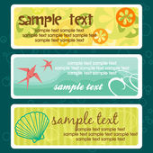 Summer tags with place for your text — Stock Vector