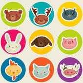 Cartoon animal head — Stock Vector