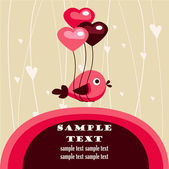 Valentine's day card with place for your text — Stock Vector