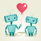 Robots in love — Stock Vector