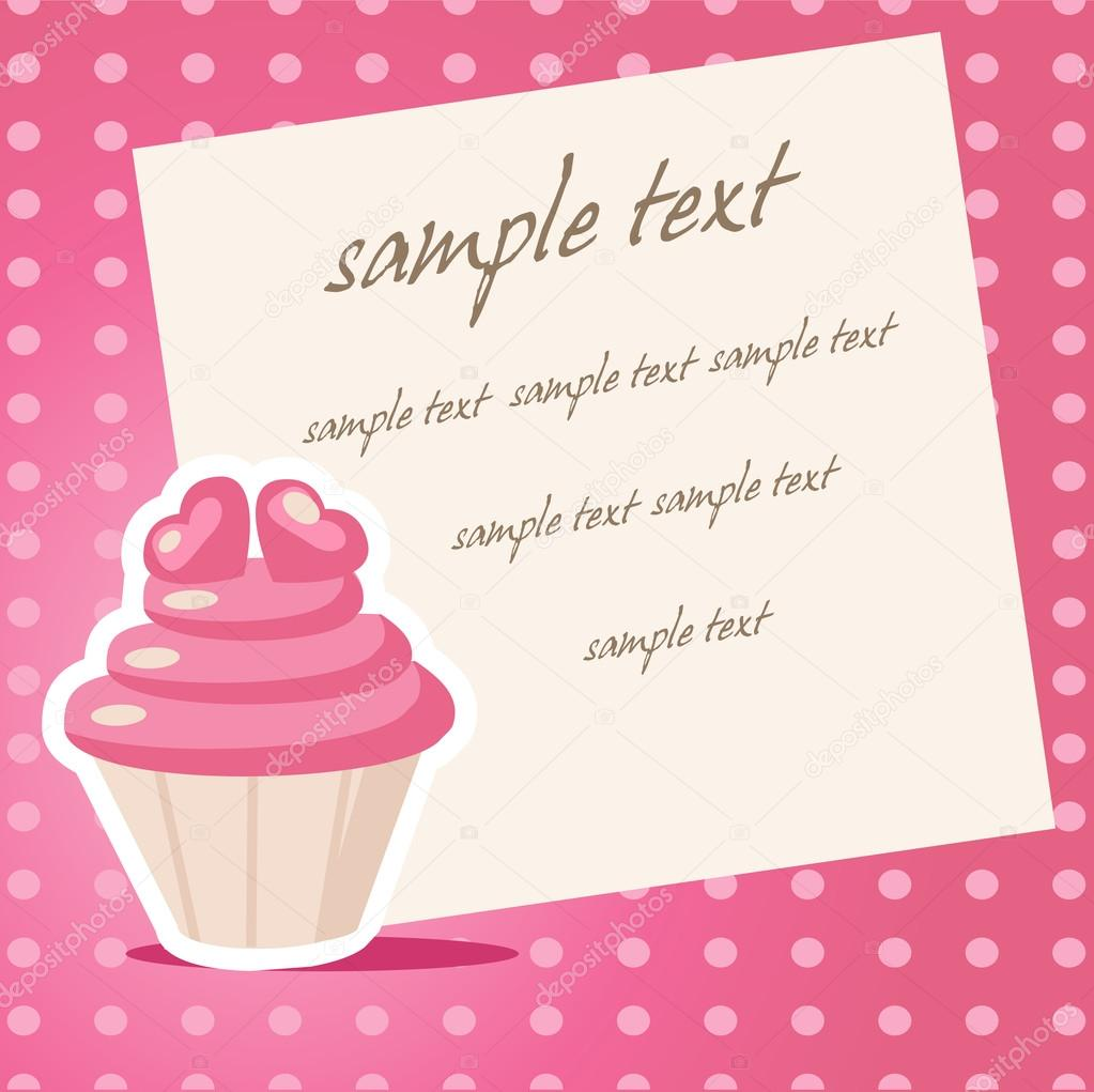 Vintage cupcake background with place for your text — Vektorgrafik #18222481
