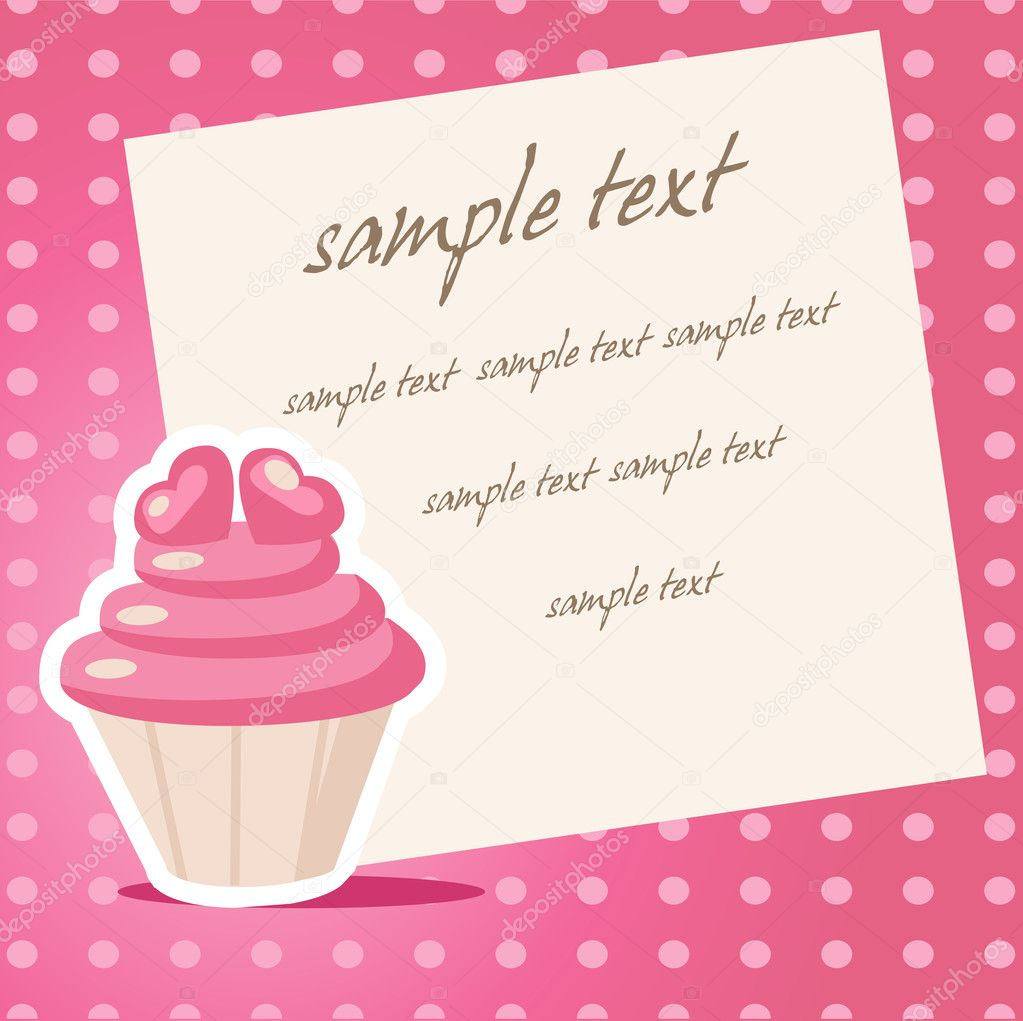 Vintage cupcake background with place for your text — Imagen vectorial #18222481