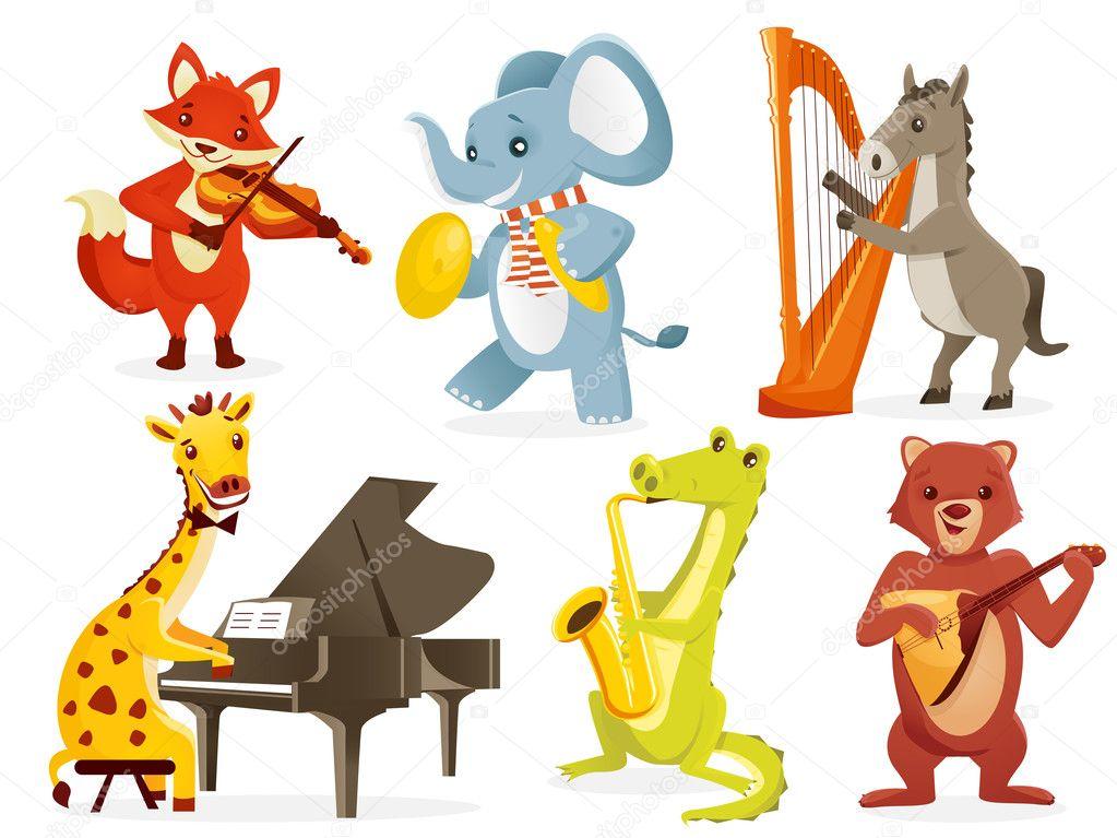 Играющие животные рисунок