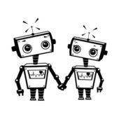 Robots in love — Stock Photo