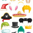 Funny costumes and accessories - Stock Photo