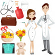 Medical theme illustrations - Stock Photo