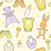 Cute hand drawn baby background — Stock Photo
