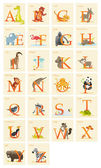 Animal alphabet set — Stock Photo