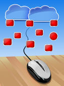 Cloud connection — Stockvektor