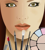 Make up — Stock Vector