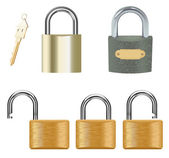 Padlock Set — Stock Vector