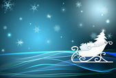 Santa sleigh — Stock Vector