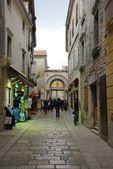 Alley in Porec. Carotia — Stock Photo
