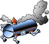 Running BBQ barrel — Stock Vector