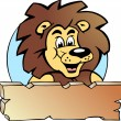Hand-drawn Vector illustration of an Proud Lion King - Logo Design - Stock Vector