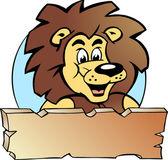 Hand-drawn Vector illustration of an Proud Lion King - Logo Design — Stock Vector