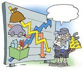 Un mécanicien en regardant les salaires et le pouvoir d'achat — Photo