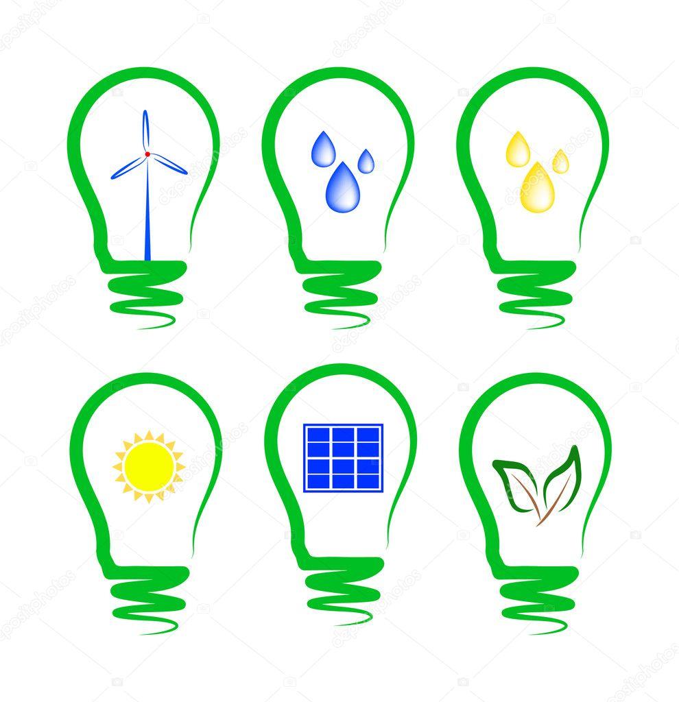 Concetto che simboleggiano i diversi tipi di energia alternativa vettoriali stock kav777 - Diversi tipi di energia ...