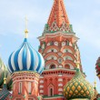 Stock Photo: St Basils cathedral on Red Square in Moscow