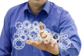 Concept symbolizing an engineering and innovatoin — Stock Photo