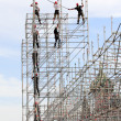 Build high-rise metal structures — Stock Photo