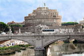 A view of the fortress of Castel Santangelo in Rome — Stock Photo