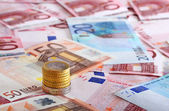 A lot of euro for background — Stock Photo