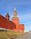 Moscow Kremlin. Spasskaya tower — Foto de Stock