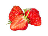 Fresh, juicy and healthy strawberry isolated over white — Stock Photo