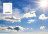 Concept symbolizing the solar energy — Foto de Stock